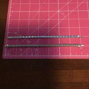Women's silver tone bracelets